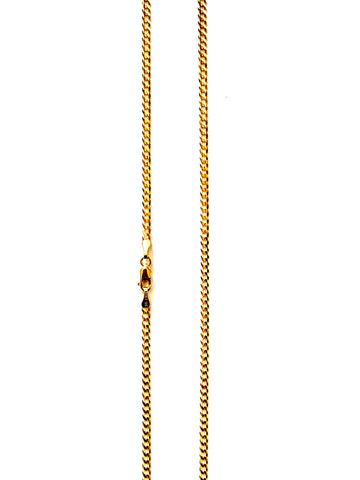 2.4mm 'Curb' Chain ('Cuban' Links) Solid 10k Solid Gold