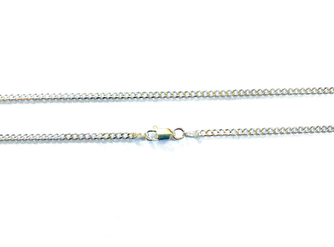 .925 Sterling Silver 2.2mm Cuban/Curb Necklace