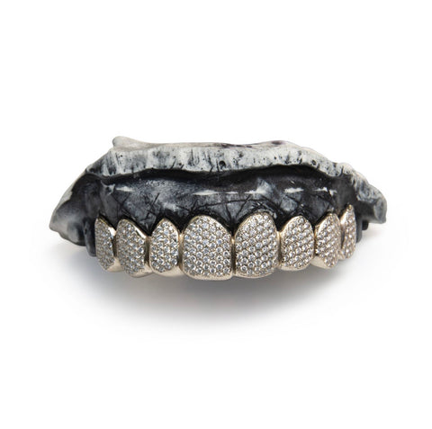 VS Diamond 'Grillz' Set in 10k Solid Gold Custom Fit
