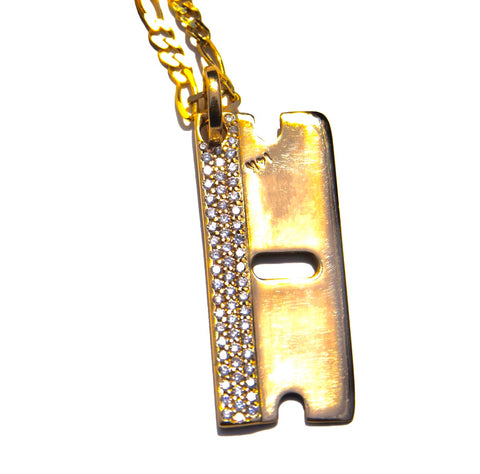 VS Diamond 'Razor Blade' pendant Yellow Gold