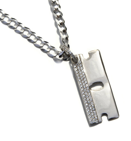 VS Diamond 'Razor Blade' pendant White Gold