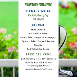 Scarborough Fair Kentucky Derby Dinner Menu