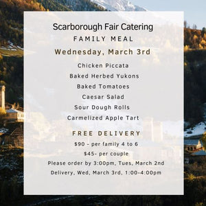 Scarborough Fair Family Meal Menu 030321
