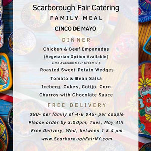 Scarborough Fair Cinco de Mayo Menu