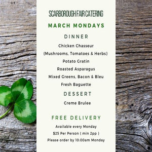 Scarborough Fair March Dinner 2021