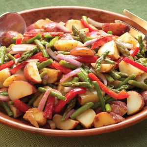 Scarborough Fair Potato Salad with Asparagus and Red Peppers