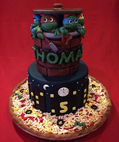 The Mutant Ninja Turtles Birthday Cake