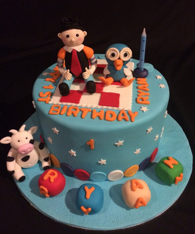 Giggle and Hoot Birthday Cake