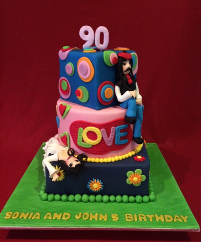 The Colourful Birthday Cake