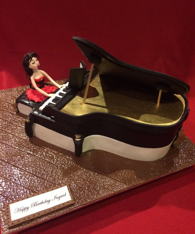 Grand Piano Novelty Birthday Cake