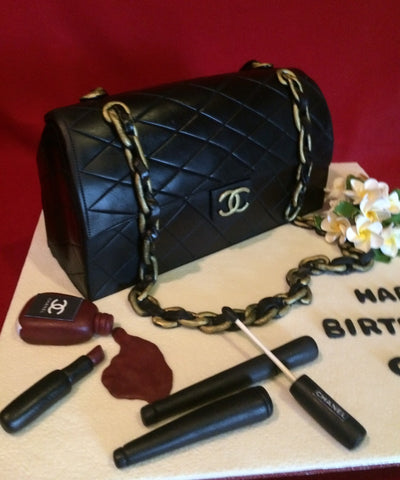 Black Chanel Bag Cake