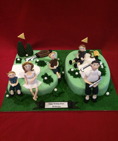 Family Golf Club Novelty Birthday Cake
