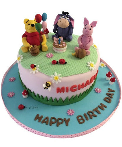Winnie the Pooh and His Friends Birthday Cake