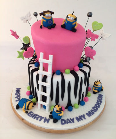 Happiness Minions Birthday Cake