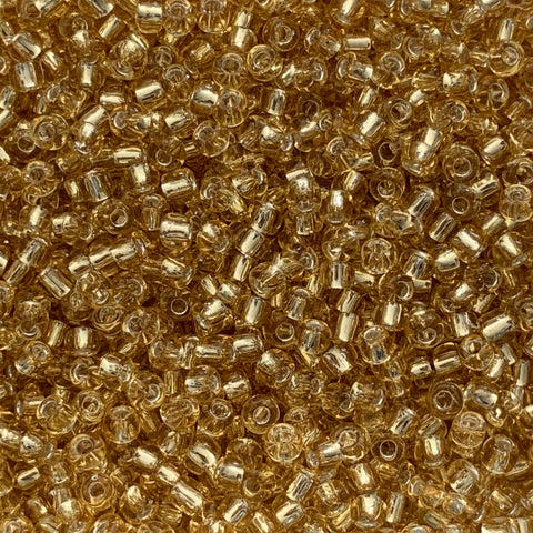 Japanese Seed Beads Size 11 101  Silverlined - Lt. Gold