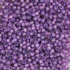 Japanese Seed Beads Size 11-4023A Gold Lined - Dark Lavendar - Dyed