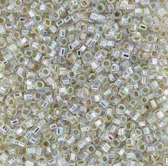 Japanese Seed Beads Size 11-5004 Silverlined Rainbow - Crystal