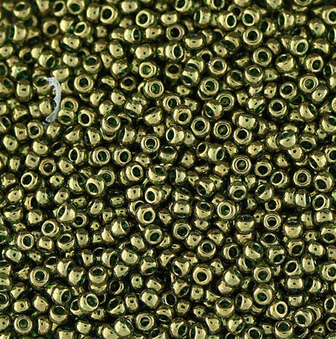 Japanese Seed Beads Size 11-0606 Gold Luster -16 Gram Tube