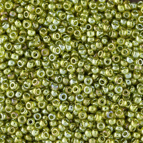 Japanese Seed Beads Size 11-0627 Gold Luster - Sage