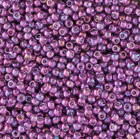 Japanese Seed Beads Size 11-0634 Gold Luster - Rose