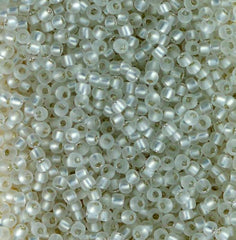 Japanese Seed Beads Size 11-7000 Silverlined Matte - White