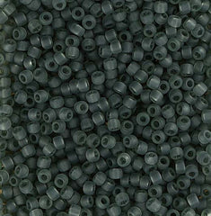 Japanese Seed Beads Size 11-7151 Transparent Matte - Black Diamond