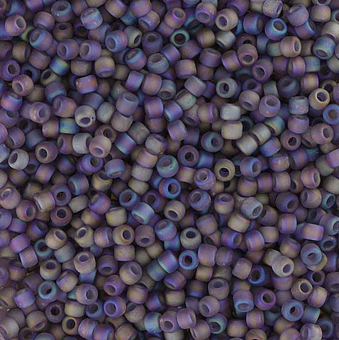 Japanese Seed Beads Size 11-7254 Transparent Rainbow Matte - Amethyst