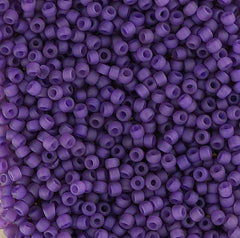 Japanese Seed Beads Size 11-7398I Transparent Matte - Medium Purple