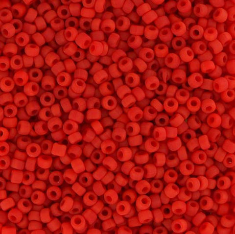 Japanese Seed Beads Size 11-7407 Opaque Matte - Red