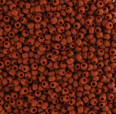 Japanese Seed Beads Size 11-7408A Opaque Matte - Rust