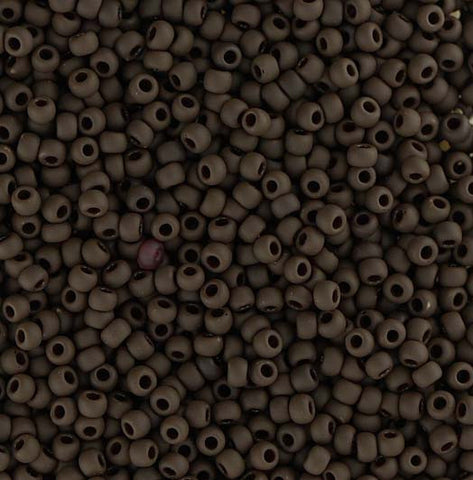 Japanese Seed Beads Size 11-7408 Opaque Matte - Dark Brown