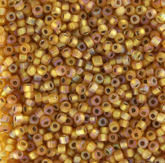 Japanese Seed Beads Size 11-7633 S/L Rainbow Matte - Lt. Gold