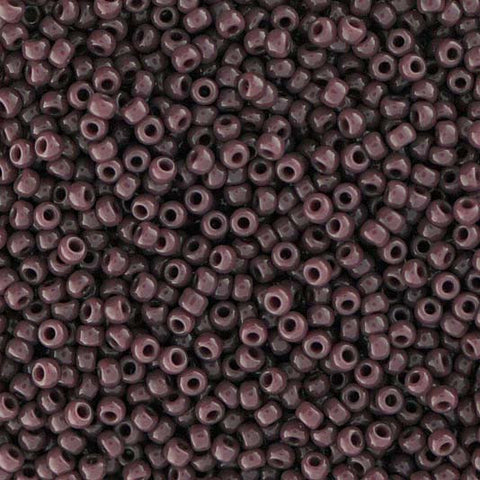 Japanese Seed Beads Size 11-0841 Opaque - Dark Amethyst