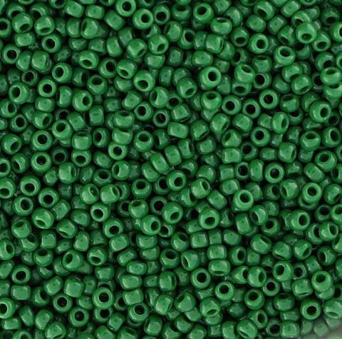 Japanese Seed Beads Size 15-847 Opaque - Dark Green