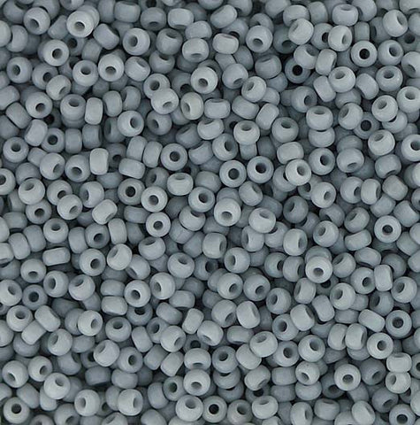 Japanese Seed Beads Size 11-0888 Opaque - Light Grey