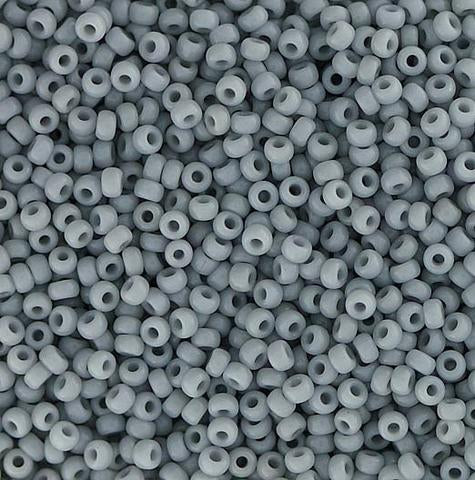 Japanese Seed Beads Size 15-888 Opaque - Light Grey