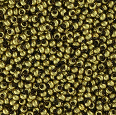 Japanese Seed Beads Size 11-Metal Bead Brass (16gr tube)
