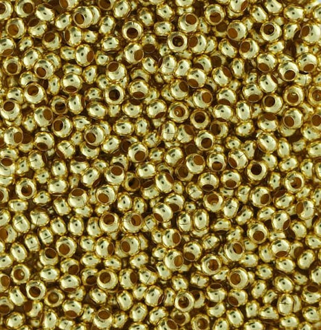 Japanese Seed Beads Size 11-Metal Bead Shiny Gold Gilding (16gr tube)