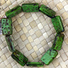 Czech Picasso-18x13m-Green - 10 pcs