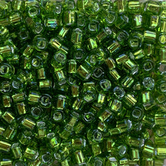 Japanese Seed Beads Size 6-014  Silverlined Peridot