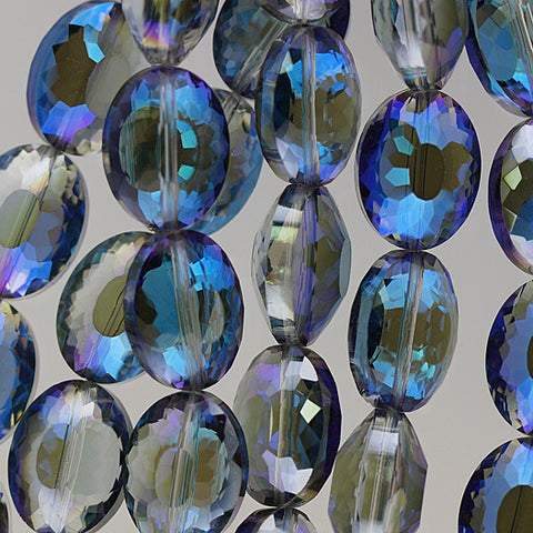 Chinese Crystal - 15x20m Shape - Blue Iris - 10 pcs