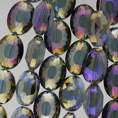 Chinese Crystal - 15x20m Shape - Purple Iris - 10 pcs
