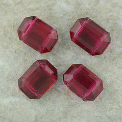 German Glass - Two Hole Spacer - Fushia