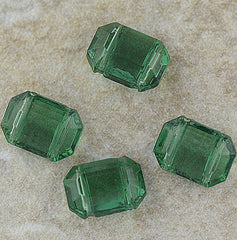 German Glass - Two Hole Spacer - Green Tourmaline