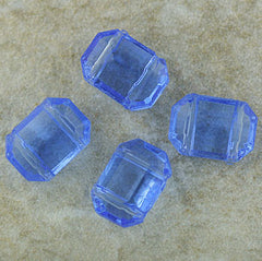 German Glass - Two Hole Spacer - Light Sapphire