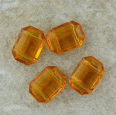 German Glass - Two Hole Spacer - Topaz