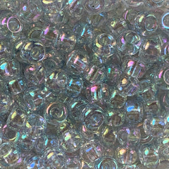 Japanese Seed Beads Size 6-325B - Transparent Crystal Clear Rainbow AB