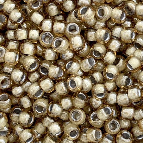 Japanese Seed Beads Size 8-329A Colorlined - Antique Tan