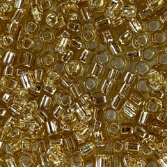 Japanese Seed Beads Size 6-003 - Silverlined Light Gold