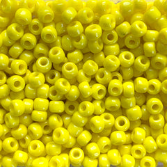 Japanese Seed Beads Size 6-404- Opaque Yellow